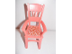 Part No: 6925pb01  Name: Scala Chair - Highback Dining with Flowers on Light Pink Background Pattern (Sticker) - Set 3270