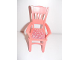 Part No: 6925pb02  Name: Scala Chair - Highback Dining with Flowers on Dark Pink Background Pattern (Sticker) - Set 3242