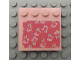 Part No: 6179pb051  Name: Tile, Modified 4 x 4 with Studs on Edge with Flowers Pattern (Sticker) - Set 3242