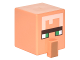 Part No: 23766pb002  Name: Minifig, Head Modified Cube Tall with Raised Rectangle and Minecraft Villager Pattern