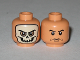 Part No: 3626bpb0376  Name: Minifig, Head Dual Sided Skull Mask / Arched Eyebrows and White Pupils Pattern - Blocked Open Stud