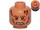 Part No: 3626cpb0443  Name: Minifigure, Head Male Scars, Bared Teeth Pattern (SW Anakin Skywalker) - Hollow Stud