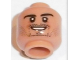 Part No: 3626cpb1668  Name: Minifig, Head Black Eyebrows, Stubble, Goatee, White Pupils, Smile Pattern (Mats Hummels) - Stud Recessed