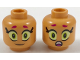 Part No: 3626cpb1932  Name: Minifig, Head Dual Sided Alien Female, Magenta Eyebrows, Large Eyes, Smile / Scared Pattern - Stud Recessed