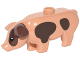 Part No: 87621pb03  Name: Pig with Black Eyes, White Pupils and Dark Brown Spots Pattern
