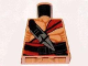 Part No: 973pb0600  Name: Torso Indiana Jones Bare Chest with Muscles, Red Sash and Ceremonial Knife Pattern