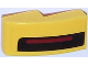 Part No: 11477pb025L  Name: Slope, Curved 2 x 1 No Studs with Thin Red Stripe on Thick Black Stripe on Yellow Background Pattern Model Left Side (Sticker) - Set 75870