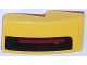 Part No: 11477pb025R  Name: Slope, Curved 2 x 1 No Studs with Thin Red Stripe on Thick Black Stripe on Yellow Background Pattern Model Right Side (Sticker) - Set 75870