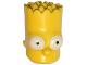 Part No: 15523pb02  Name: Minifigure, Head Modified Simpsons Bart Simpson - Eyes Wide