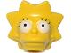 Part No: 15524pb02  Name: Minifigure, Head Modified Simpsons Lisa Simpson - Wide Eyes Pattern