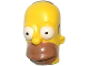 Part No: 15527pb02  Name: Minifigure, Head Modified Simpsons Homer Simpson - Eyes Wide