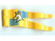 Part No: 15793pb01  Name: Duplo Flag Wavy 2 x 5 without Slits with White Eagle with Crown Pattern