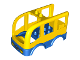 Part No: 16597c01pb01  Name: Duplo Car Body Bus Small with Blue Floor and Wheel Wells, Headlights and Grille Pattern (10528)
