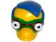 Part No: 16735c01pb02  Name: Minifigure, Head Modified Simpsons Milhouse Van Houten with Green Mask Pattern