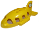 Part No: 18721pb02  Name: Duplo Airplane Midsize Fuselage Upper with Tail with Flower Inside Red Circle Pattern