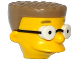 Part No: 19785pb01  Name: Minifigure, Head Modified Simpsons Waylon Smithers with Glasses and Dark Tan Hair Pattern