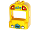 Part No: 19804pb01  Name: Duplo Bus Cab with Headlights, Grille and 'ABC' Pattern