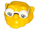 Part No: 19907pb01  Name: Minifigure, Head Modified Simpsons Hans Moleman with White Glasses with Eyes Pattern
