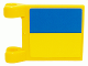 Part No: 2335pb024  Name: Flag 2 x 2 Square with SpongeBob Blue and Yellow Rectangle Pattern (Sticker)
