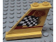 Part No: 2340pb003  Name: Tail 4 x 1 x 3 with Black and White Checkered Flag, Red Line and Number 5 Pattern on Left Side (Sticker) - Set 8225