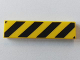 Part No: 2431pb426  Name: Tile 1 x 4 with Black and Yellow Danger Stripes (Black Corners) Pattern