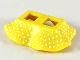 Part No: 24782pb04  Name: Minifigure, Skirt Plastic with Tiny White Dots Pattern
