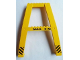 Part No: 2635pb05  Name: Support Crane Stand Double with Black 'MAX. 9 M.' and Black and Yellow Danger Stripes Pattern (Sticker) – Set 7243