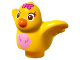 Part No: 27370pb02  Name: Duplo Bird with Bright Pink Chest and Dark Pink Bow on Head Pattern