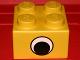 Part No: 29540pb01  Name: Brick, Soft 2 x 2 with Eye Pattern