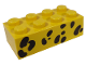 Part No: 3001pb007  Name: Brick 2 x 4 with Black Animal Spots Pattern