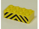 Part No: 3001pb014  Name: Brick 2 x 4 with Black and Yellow Danger Stripes Pattern (Sticker) - Set 7743