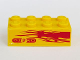 Part No: 3001pb104R  Name: Brick 2 x 4 with Light Purple Flames and 'NITRO' on Yellow Background Pattern Model Right Side (Sticker) - Set 8666