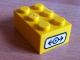 Part No: 3002pb21  Name: Brick 2 x 3 with Train Logo Black on White Background Pattern on End (Sticker) - Set 4514