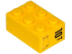 Part No: 3002pb29R  Name: Brick 2 x 3 with '10T' and Hatch Pattern on End Model Right Side (Sticker) - Set 60076