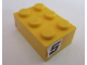 Part No: 3002pb34  Name: Brick 2 x 3 with '5' Pattern on both sides (Stickers) - Set 8681
