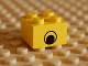 Part No: 3003pb010  Name: Brick 2 x 2 with Eye without White Pattern on Two Sides, Centered
