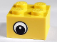 Part No: 3003pb026  Name: Brick 2 x 2 with Eye with White Pattern on Two Sides, White Circle in Pupil, Offset