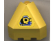 Part No: 30079pb01  Name: Panel 3 x 3 x 3 Corner Convex (Divers) with Yellow Submarine in Blue Triangle Pattern (Sticker)