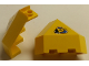 Part No: 30079pb04  Name: Panel 3 x 3 x 3 Corner Convex (Divers) with Yellow Submarine in Blue Triangle on Clear Background Pattern (Sticker)