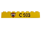 Part No: 3008pb034  Name: Brick 1 x 8 with Coast Guard Logo on Triangle and C 503 Pattern