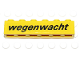 Part No: 3009pb125  Name: Brick 1 x 6 with Black 'wegenwacht' Pattern (Sticker) - Set 2140