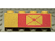 Part No: 3010pb026  Name: Brick 1 x 4 with Envelope on Red Background Pattern, Right Side