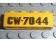 Part No: 3010pb093  Name: Brick 1 x 4 with Black 'CW-7044' Pattern (Sticker) - Set 7044