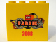 Part No: 30144pb048  Name: Brick 2 x 4 x 3 with LEGO Fabrik 2008 Pattern B