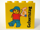 Part No: 30144pb049  Name: Brick 2 x 4 x 3 with Legoland Deutschland 6 Year Birthday (6. Geburtstag) Pattern