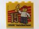 Part No: 30144pb157  Name: Brick 2 x 4 x 3 with Besuchermeister 15 Gold 2014 Legoland Deutschland Resort Pattern