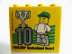 Part No: 30144pb167  Name: Brick 2 x 4 x 3 with Besuchermeister 10 Silver 2015 Legoland Deutschland Resort Pattern