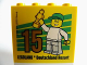 Part No: 30144pb168  Name: Brick 2 x 4 x 3 with Besuchermeister 15 Gold 2015 Legoland Deutschland Resort Pattern