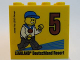 Part No: 30144pb184  Name: Brick 2 x 4 x 3 with Besuchermeister 5 Bronze 2016 Legoland Deutschland Resort Pattern