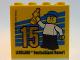 Part No: 30144pb186  Name: Brick 2 x 4 x 3 with Besuchermeister 15 Gold 2016 Legoland Deutschland Resort Pattern